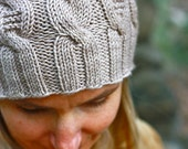 Knitting Pattern PDF - Cable Bunny Hat for Toddlers, Kids & Adults