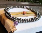 Hematite Stone Mala Necklace ~ Divine Balance & Perfect Harmony ~