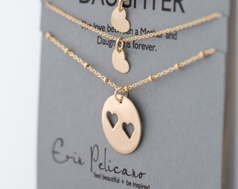 Mother Daughter Jewelry Sets Mom and Daughter Gift Sisters Necklaces Gift for Mom from Daughter Mother of the Bride Mom Birthday Gift