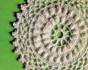 Lace Mandala/Tablemats 1970s VINTAGE CROCHET PATTERN  3 styles, Lacy Doilies, Boho/Retro Home/Shabby Chic, Pdf from GrannyTakesATrip 0232