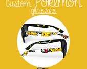 Custom made Pokemon Sunglasses or Glasses - hand painted Wayfarers - unique Pokemon glasses - Pokéball