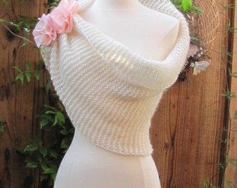 Knit women cowl, shawl,  Made to order