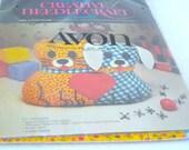 Vintage Pillow Kit - Gingham Cat & Dog - AVON - Retro Sewing Kit - Craft Supply