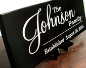 Personalized Family Name Sign Plaque Last Name Sign 8x22 Carved Engraved Wall Sign Established Sign