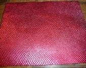"""Leather 19.5""""x36"""" HOT Pink Metallic AMAZON COBRA Cowhide 2.5 oz / 1mm  PeggySueAlso"""