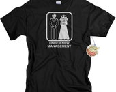Funny Gifts for Groom Under New Management Tshirt Winter Wedding Shirt for Groom Gifts