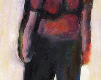 Original Painting - 'Girl Dragging Foot' by Peter Mack