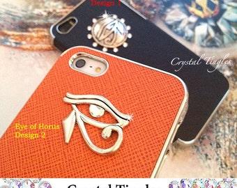 Dark Horse Egyptian Eye of Horusor Superman Hero Synthetic Leather Hard Case Custom Made For iPhone SE & 5S Design Classic Egyptian Movie
