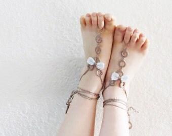 Crochet Barefoot Sandals, beach shoes, bridal sandals, wedding bridal, barefoot sandles, wedding bow sandles, Bow Sandles, beach wedding