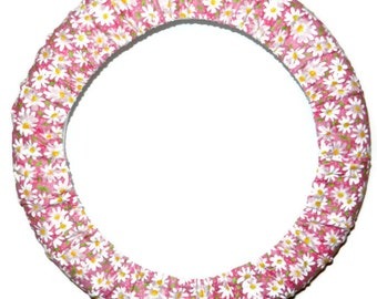 Pink Daisy Steering Wheel Cover-Car Accessories-Electric Daisy Carnival-Pink Car Decor-Car Accessory for Women