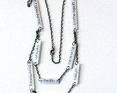 Leonard Cohen Jewelry // Hallelujah Necklace // Jeff Buckley // Rock Music Jewelry // Statement Necklace // Lyrics Necklace