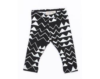 Thief&Bandit Classic Mountain Leggings White on Black