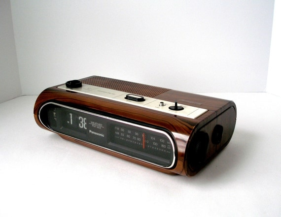 Vtg Panasonic Flip Clock Weather Am Fm Radio Model By