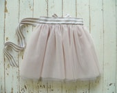 Platinum and Blush Tulle Tutu Skirt--Customizable Order