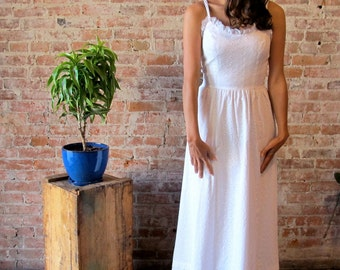 Lanz Original White Eyelet Sundress Wedding