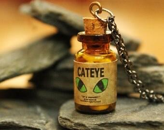 Fallout Inspired Cateye Pendant - Glow in the Dark