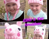 Peppa Pig Crocheted Hat