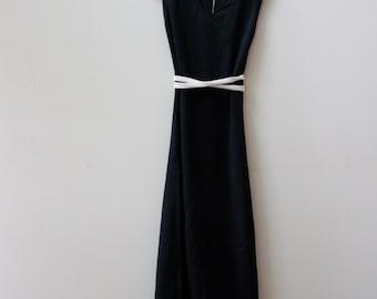 Black Tie Minimal 70s Dress
