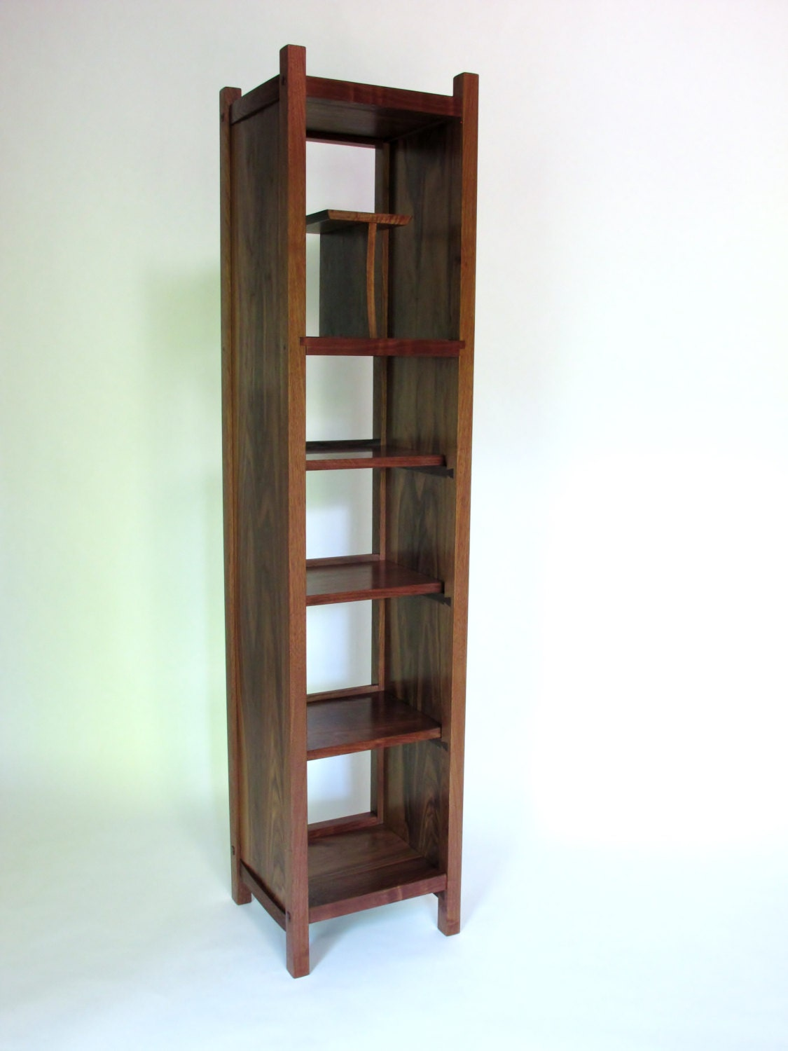 Open Bookcase Tall Storage Cabinet Narrow Bookcase Modern
