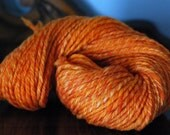 SALE Handspun Yarn- Chunky Weight Polwarth Wool, Saffron, 160 yds