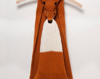 Fox Scarf- Fox Scarves featuring Orange and Beige Colours - Animal Scarf - Woodland - Fun Gift - Animal Fashion