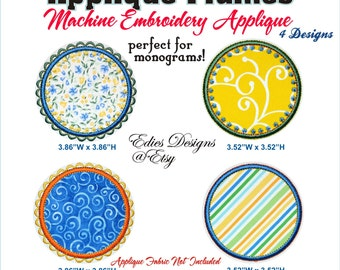 Applique Frames Monograms Applique Frames Machine Embroidery Applique Digital Download