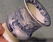 Wedgwood Ferrara Blue English China Toothpick Holder c1910-20