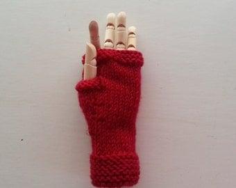 Children's fingerless gloves - kids gloves - wool child's gloves - warm winter children's gloves