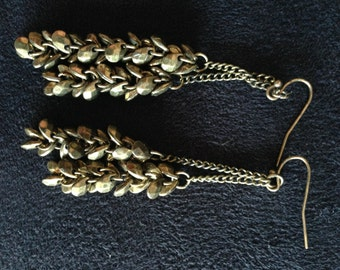 Gold Bead Earrings. Dangle Earrings, Bead Earrings, Long Earrings, Summer Earrings, Charm Earrings