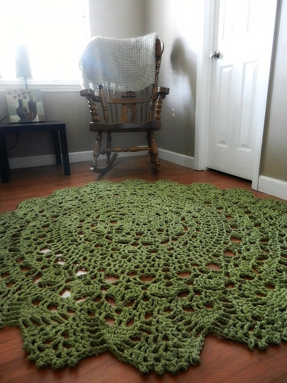Items Similar To Sage Green Cotton Doily Crocheted Lace