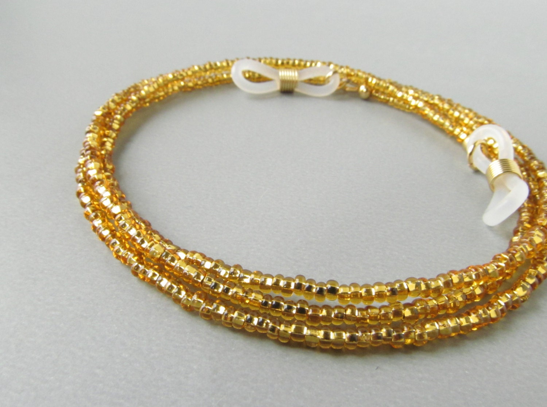 Gold Eyeglass Necklace Holder. Eyeglass Chain. Reading Glasses