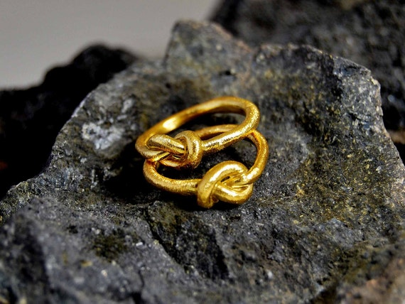 ... Gold Organic Texture Infinity Modern Symbolic Design Jewelry Weddings