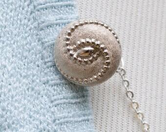 Silver Sweater Clip