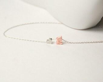 Personalized Gold Letter Bracelet Valentine GiftDouble