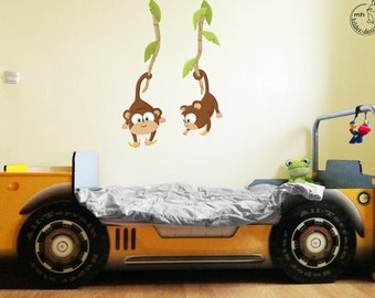 wall decal baby monkey