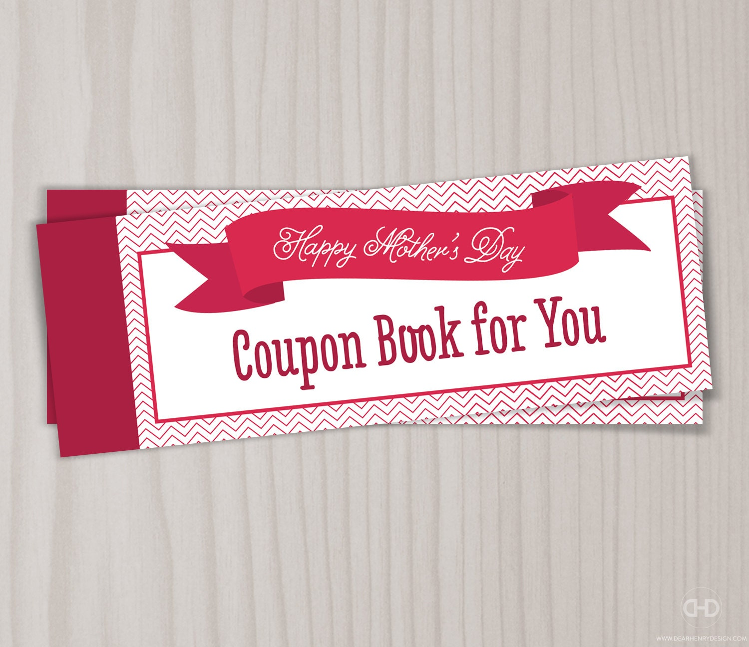 diy coupon book mothers day love coupon book mom coupons mother s day for wife grandmother from kids or grandchildren gift present chevron blank