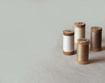Organic Cotton Sewing Thread. 4 spools. Natural colours.