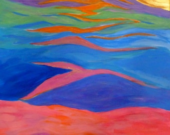 Bijou de tons peinture abstraite peinture originale - Peinture abstraite coloree ...
