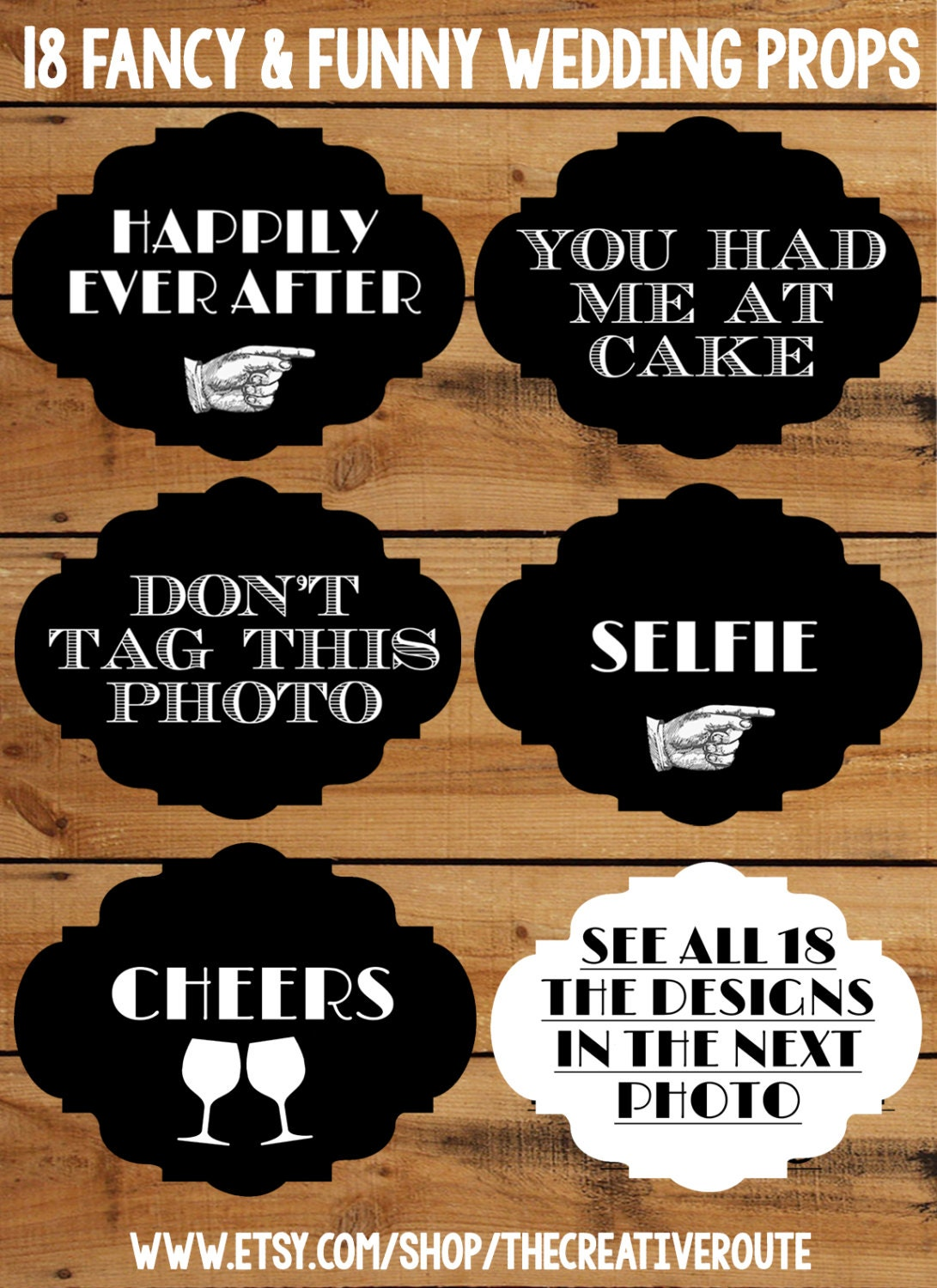 Paper Perfection: Printable Photo Booth Signs and Props |Printable Photo Booth Sayings
