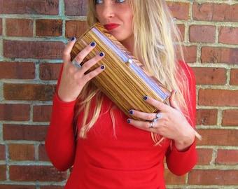 Handmade ZebraWood Wooden Purse Wooden Clutch