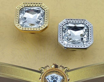 crystal dresser drawer knobs pulls handles clear square sparkle knobs modern cabinet knobs pull - Cabinet Knobs And Handles
