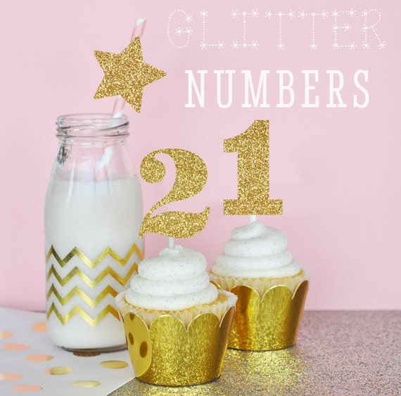 Glitter numbers glitter first birthday decorations for Glitter numbers for centerpieces