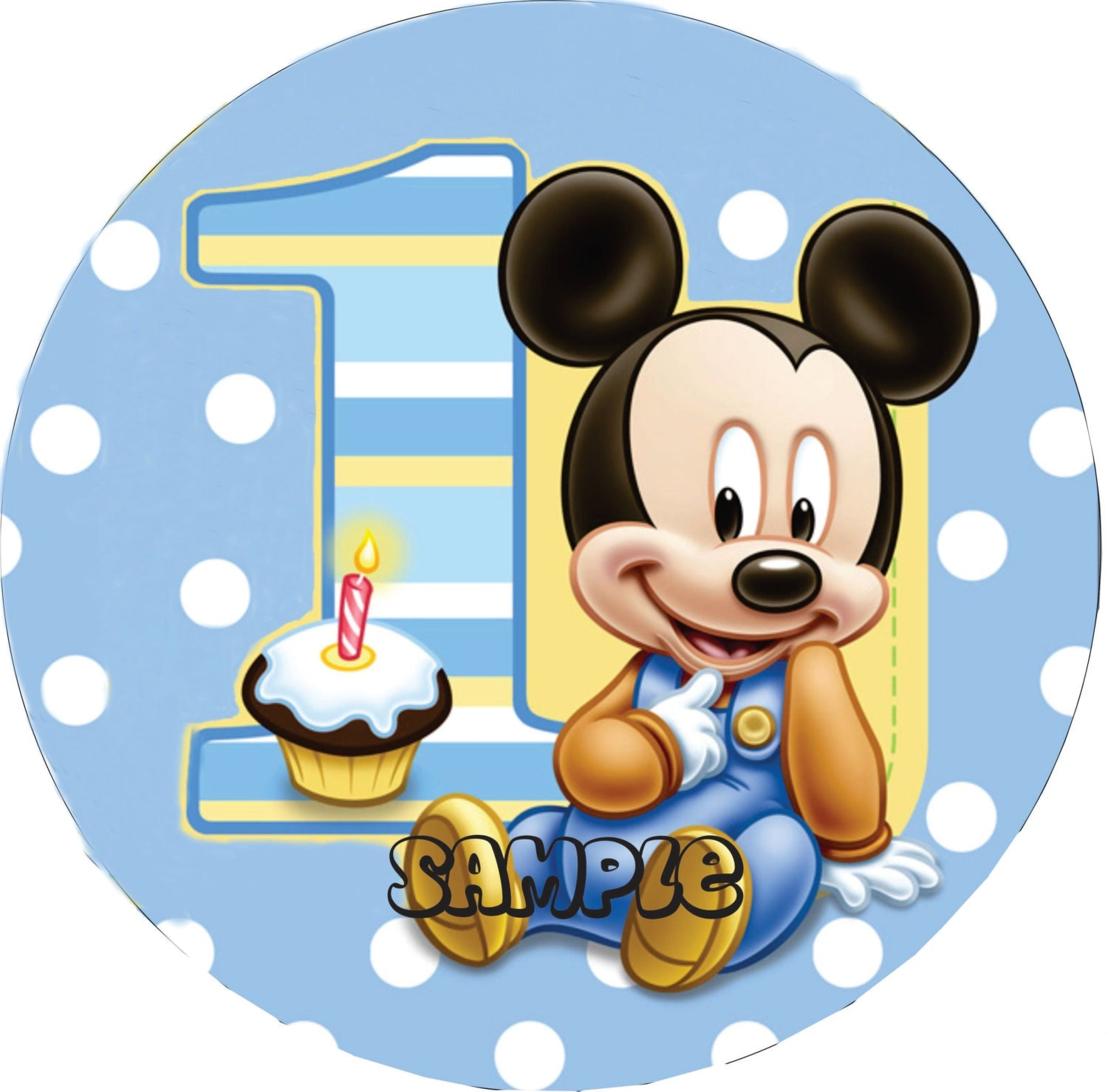 Cake Toppers Baby Mickey : Disney Baby Mickey Edible Cake Image Topper by ...