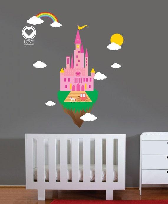 Girl Room Princess Castle Wall Decal For Nursery Room