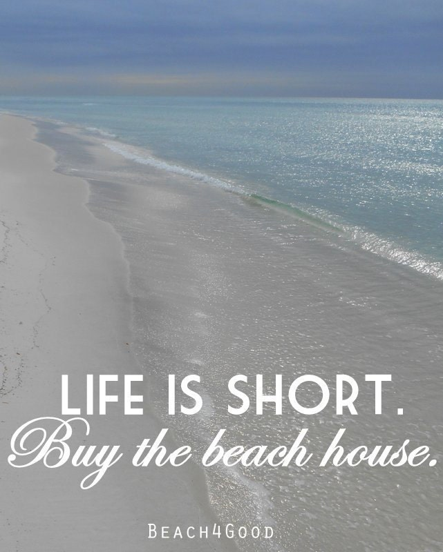 Life Is Short Buy The Beach House Wife Gift Gifts By
