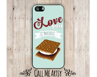 iPhone Case, Love You S'more, iPhone 4 Case, iPhone 4S Case, iPhone 5 Case, iPhone 6 Case, Funny iPhone 4 Case, Funny iphone 5 Case