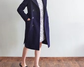 Wool tailor-fit belted riding coat