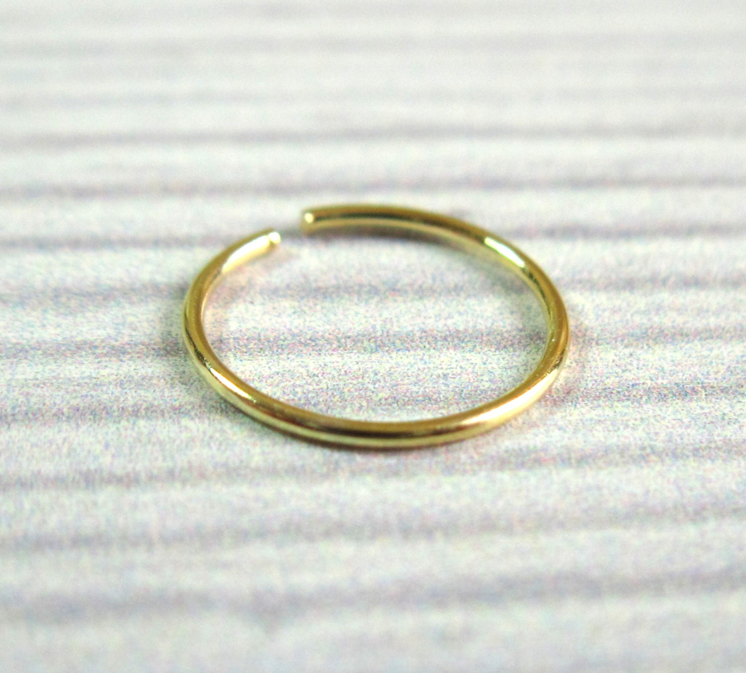 gold nose hoop ring gold nose hoop nose jewelry by baronykajd