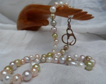Mermaid pearl necklace, 18.5""