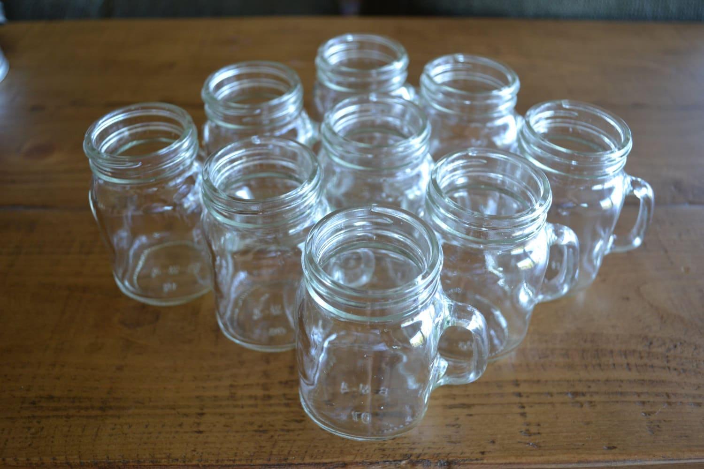 Mini mason jars shot glasses mason shot glasses shot - Mason jar goblets ...